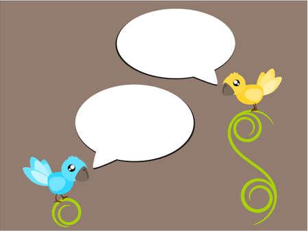 tweet: Bird talk or tweet in social concept illustration