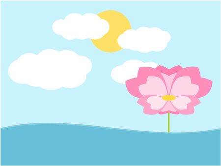 peace concept: Flower draw and background in peace concept illustration Illustration
