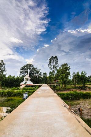 crematorium: Thai crematory in the buddha temple countryside Thailand