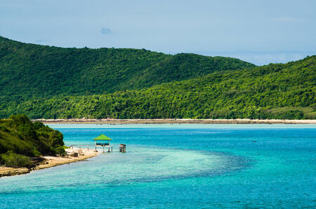 Green island and sea nature landscape in Thailand Stock Photo - 31850722