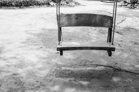 koh samet: swing on beach sand and sea in Koh Samet Thailand vintage