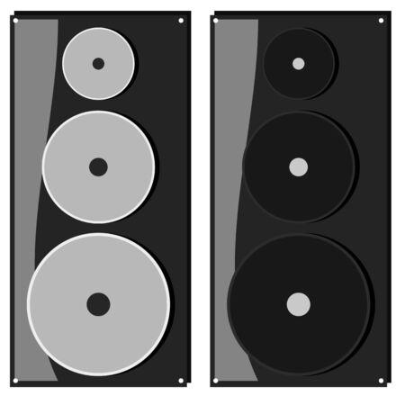 Speaker flat icon sound audio concept illustration