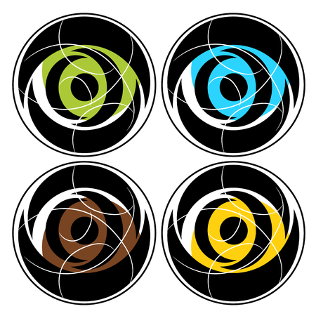 Abstract circle color illustration