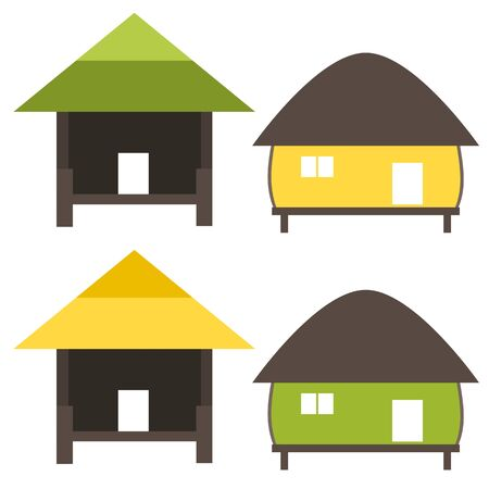 Nature home symbol in ecology world concept illustration Illustration