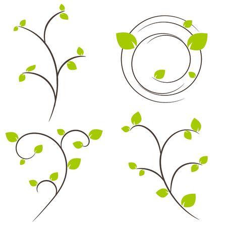 Nature tree symbol in ecology world concept illustration Illustration