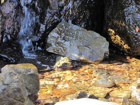waterfall smooth stones close up Banco de Imagens
