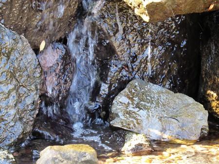 waterfall flat stone close up