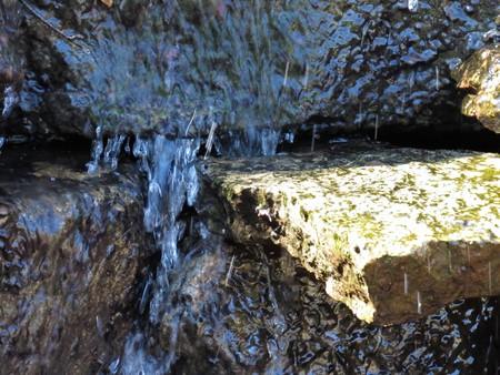 waterfall over stones close up Banco de Imagens