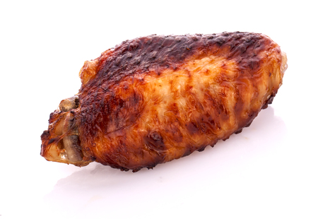 Grilled Chicken on white background Stock Photo