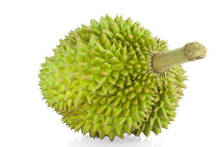 Durian en el fondo blanco Foto de archivo - 84272402