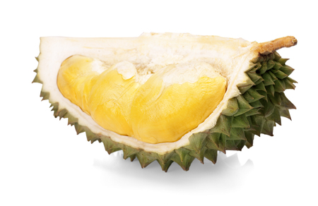 King of fruits, durian isolated on white background.