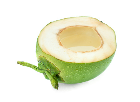 Coconut juice isolated on white background Stockfoto