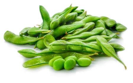 Japanese soybean On a white background