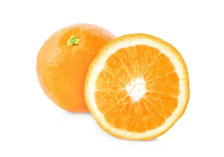Orange slice isolated on white Stock Photo