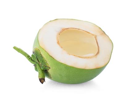 jus de noix de coco isolé sur fond blanc Banque d'images