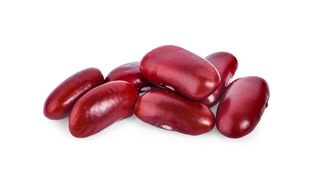 Red bean isolated on white background  Stock Photo