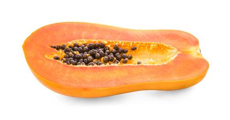 papaya on white Stock Photo