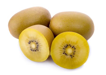 golden kiwifruit isolated on white background