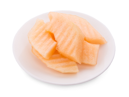 cantaloupe melon isolated on white background 版權商用圖片