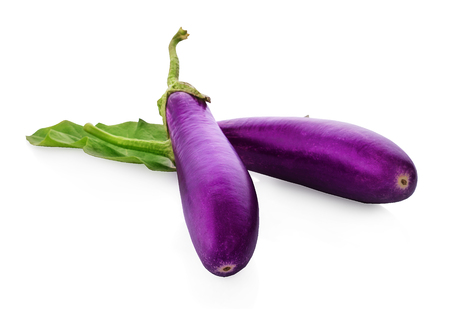 fresh eggplant isolated on a white background