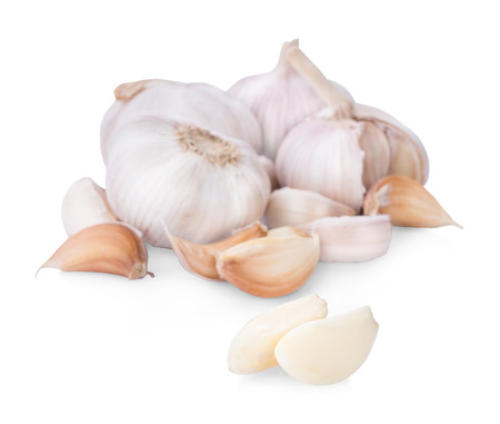 garlic, isolated on white background, clipping path, full depth of field Фото со стока