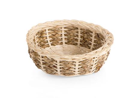 Empty wicker basket on white background 写真素材