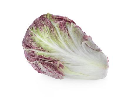 Radicchio, red salad isolated on white background Zdjęcie Seryjne