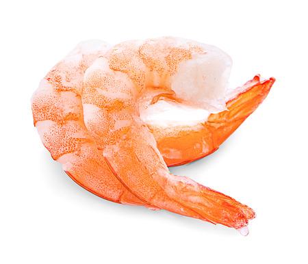 shrimp on white background Banco de Imagens