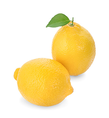lemon isolated on white background Banco de Imagens