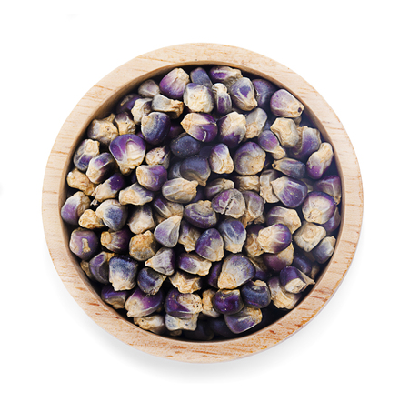 purple corn on a white background Banco de Imagens