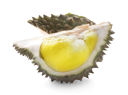mon thong durian is fruit plate tropical durian and king of fruits durian on white background healthy durian fruit food isolated Фото со стока
