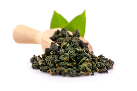 dry oolong tea an isolated on white background Zdjęcie Seryjne