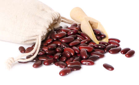 Red bean isolated on a white background