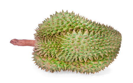 Durian on isolated on a white background Stock Photo