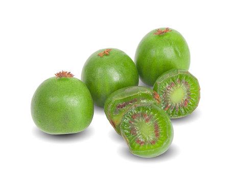 mini kiwiberry isolated on white background
