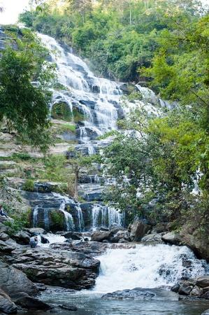 chaingmai: khun-mae-ya waterfall in chaingmai, thailand