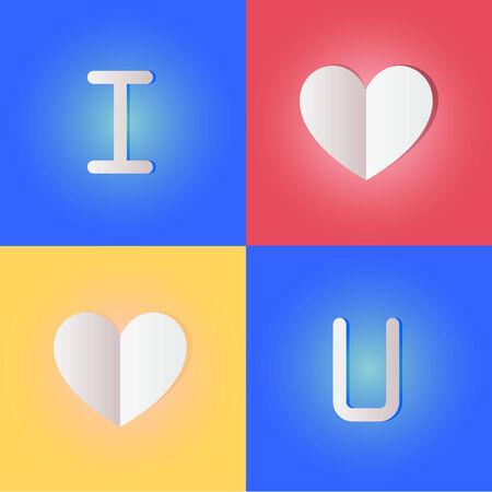 i love u: je t'aime.