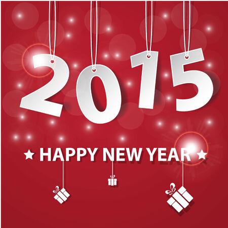 worldwide wish: Vector Modern simple Happy new year 2015