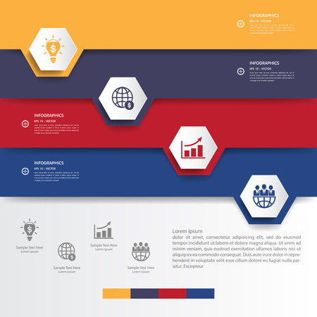 set of numbers: Design multicolour number banners templategraphic or website.vector eps10..