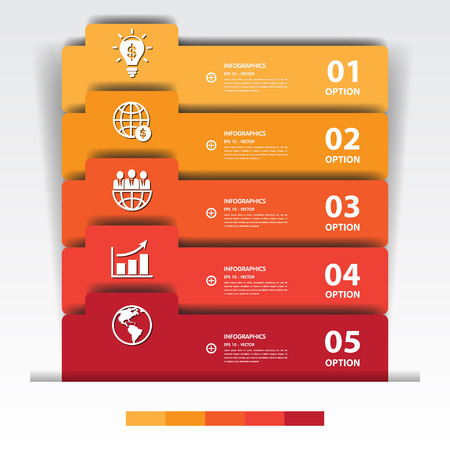 beat brochure: Design multicolour number banners templategraphic or website.vector eps10..