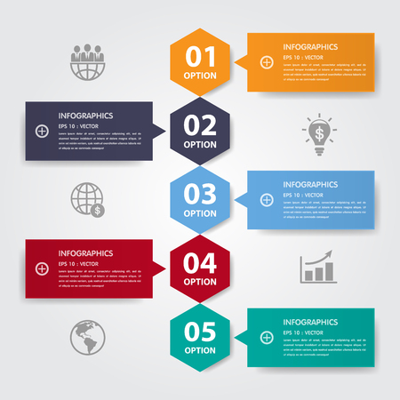 Vector Infographic timeline report template.eps10
