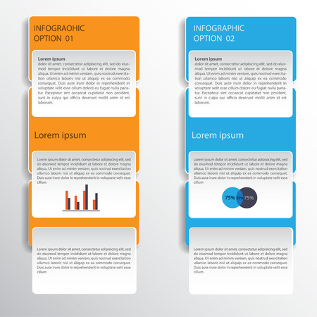 element template: Modern business style options banner.