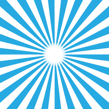 excite: Blue burst background. Vector illustration