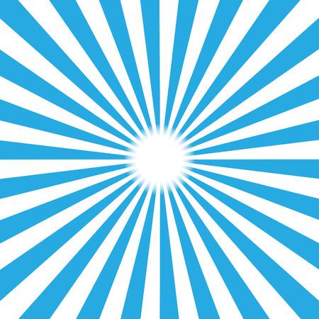 rayos de sol: Ráfaga de fondo azul. Ilustración vectorial
