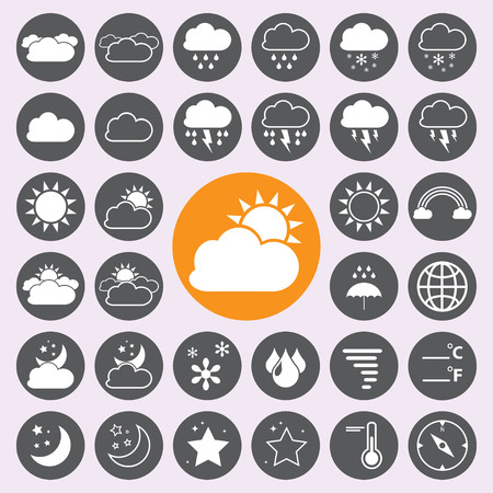weather: Weather icons set.