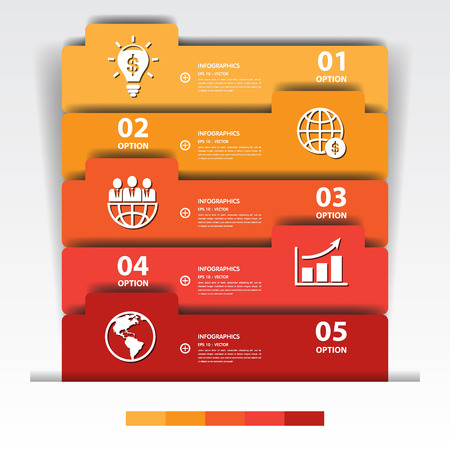 Design multicolour number banners templategraphic or website.vector eps10..