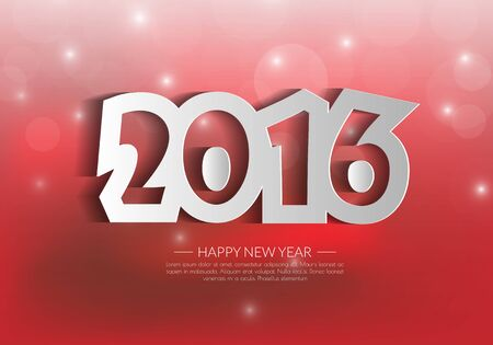 happy new year: 2016 Happy New Year background.vector. Illustration
