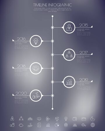 business graph: StepDesign clean number timeline templategraphic or website Illustration