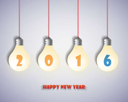 worldwide wish: 2016 Happy New Year background. vector. illustration.