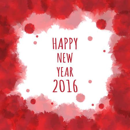 worldwide wish: Watercolor 2016 Happy New Year background.vector.